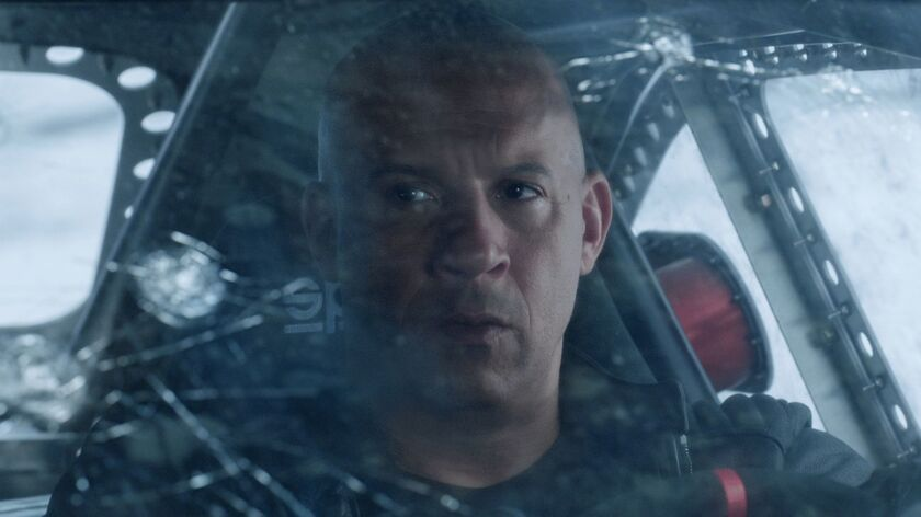 "Vin Diesel doesn't have friends, he's got family as Dominic Toretto in ""The Fate of the Furious."""