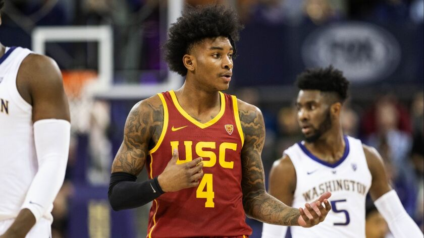 NCAA MEN: USC AT WASHINGTON