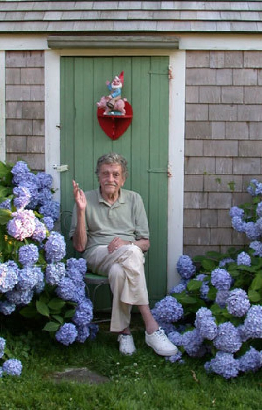 In a photo taken by his daughter, Kurt Vonnegut relaxes in Barnstable, Mass., in 2006.