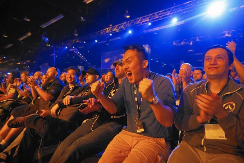 Fans attending BlizzCon.