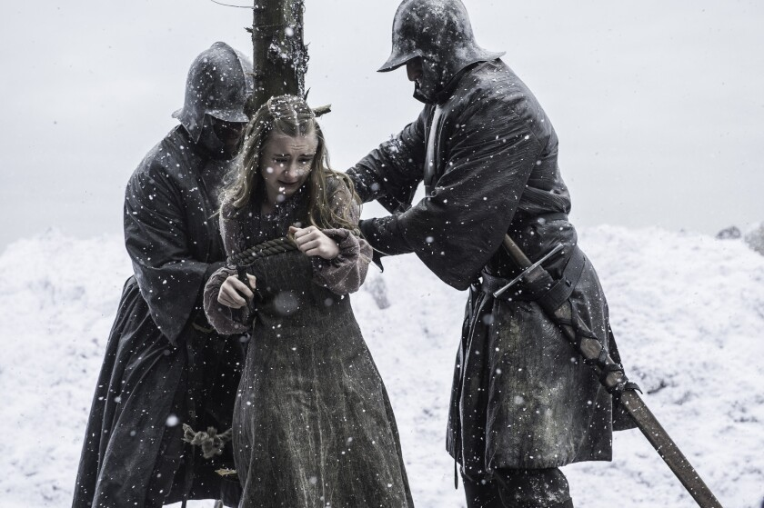 This image released by HBO shows Kerry Ingram portraying Princess Shireen Baratheon in the HBO serie