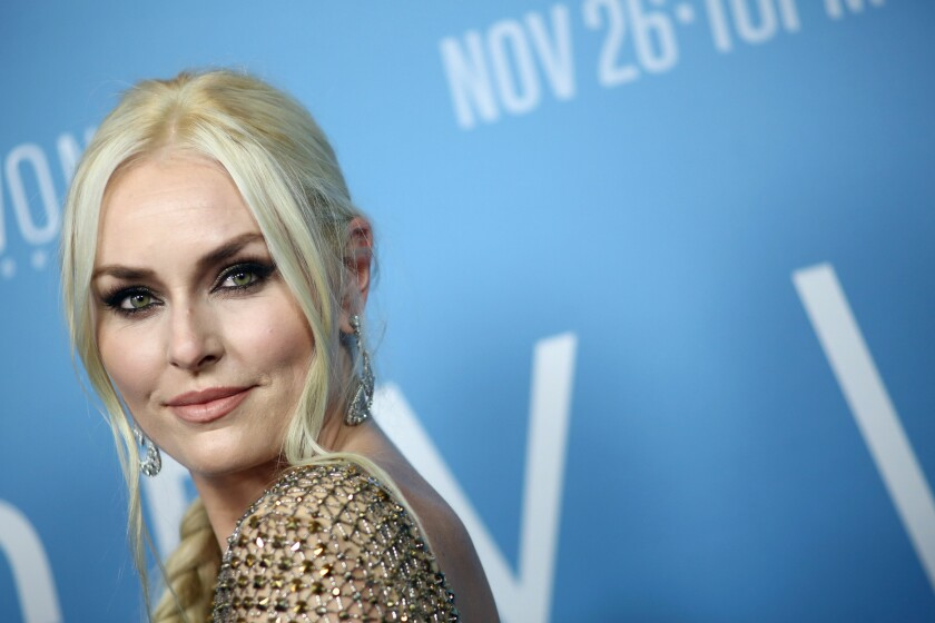 "Lindsey Vonn attends the premiere Of HBO's ""Lindsey Vonn: The Final Season"" at Writers Guild Theater on Nov. 7."