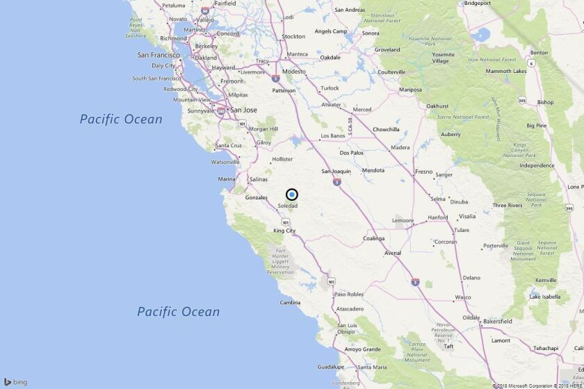 Earthquake: 3.3 quake strikes near Pinnacles, Calif.
