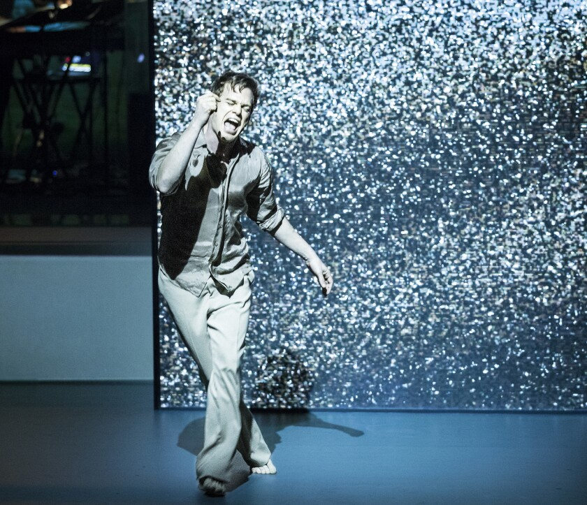 """Michael C. Hall stars in """"Lazarus,"""" the new musical co-written by David Bowie."""