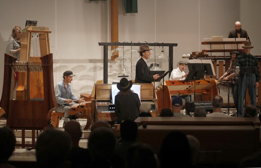 L.A.'s imaginative Partch Ensemble gives the first full performance of 'The Wayward' at the First Presbyterian Church in Santa Monica on Saturday night, Nov. 9, 2019