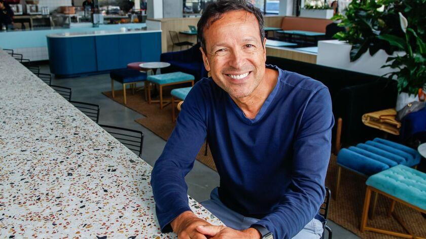 SAN DIEGO, CA Aug. 28th, 2018 | Lola 55 restaurant owner Frank Vizcarra poses for photos on Tuesday