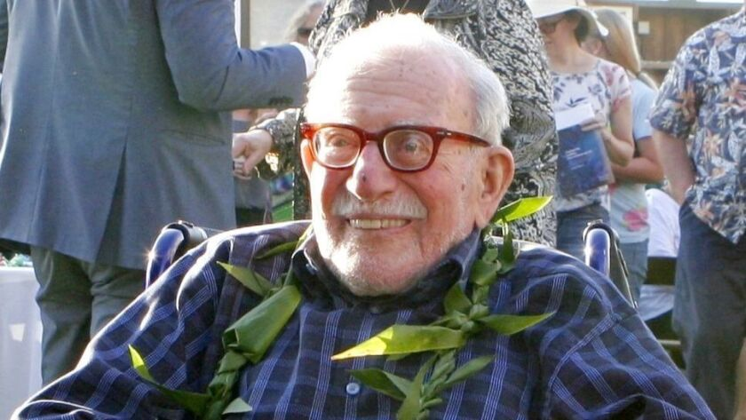 A paddle-out from Scripps Pier will honor the life and legacy of Walter Munk, 9:30 a.m. Saturday, Oct. 19, 2019 — which would have been the legendary oceanographer's 102nd birthday.