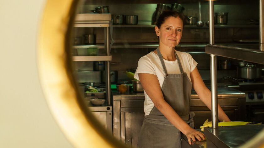Chef Elena Reygadas inside the kitchen of her Mexico City restaurant Rosetta.