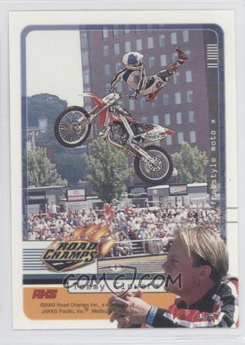 Tommy 'Tom Cat' Clowers got his own Road Champs trading card for his winning freestyle motocross moves.