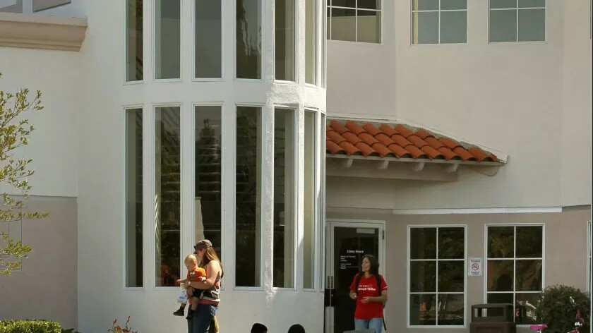 Main entrance of the Vista Community Clinic at 1000 Vale Terrace in Vista.