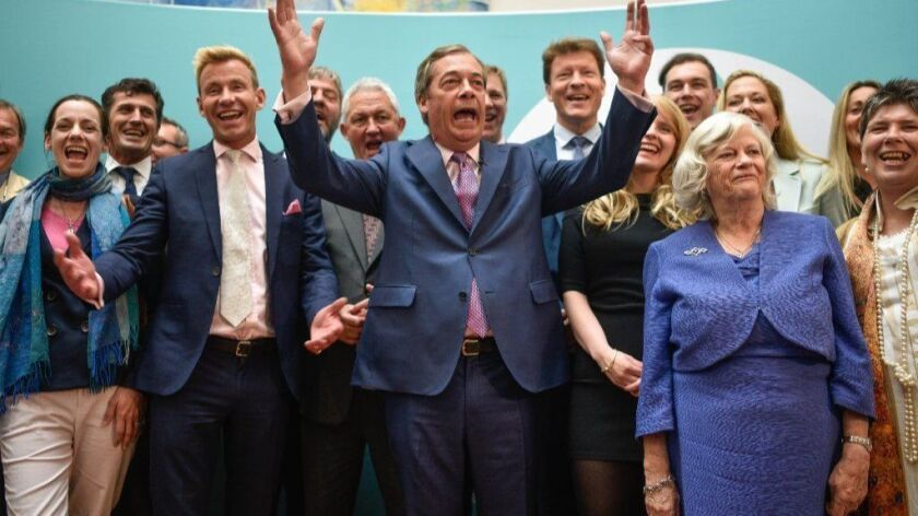 Brexit Party Holds A Post EU Election Results Event