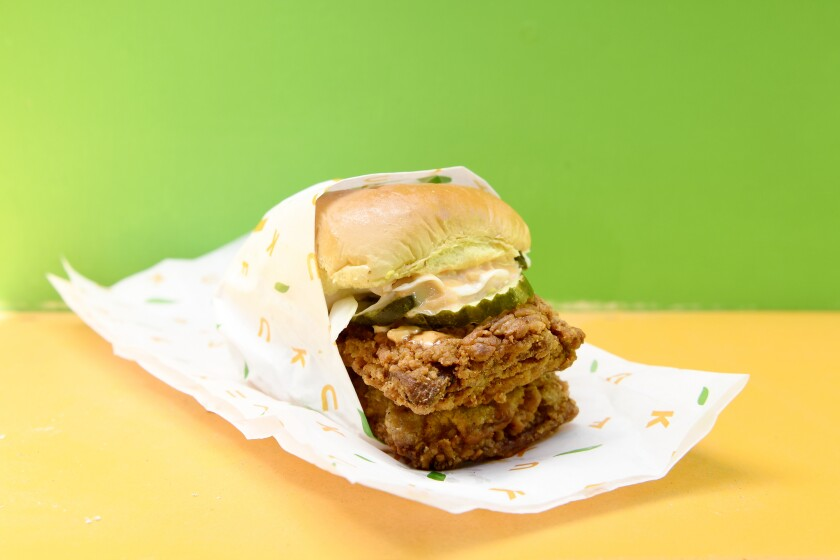 Fuku fried chicken sandwich