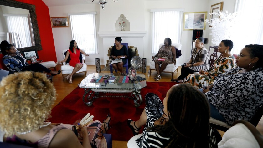 LOS ANGELES, CA September 7, 2018: A meeting of a group of black women pastors, professors and th
