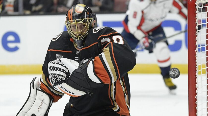Ryan Miller of the Ducks has 375 victories, the most by an American goaltender in the NHL.