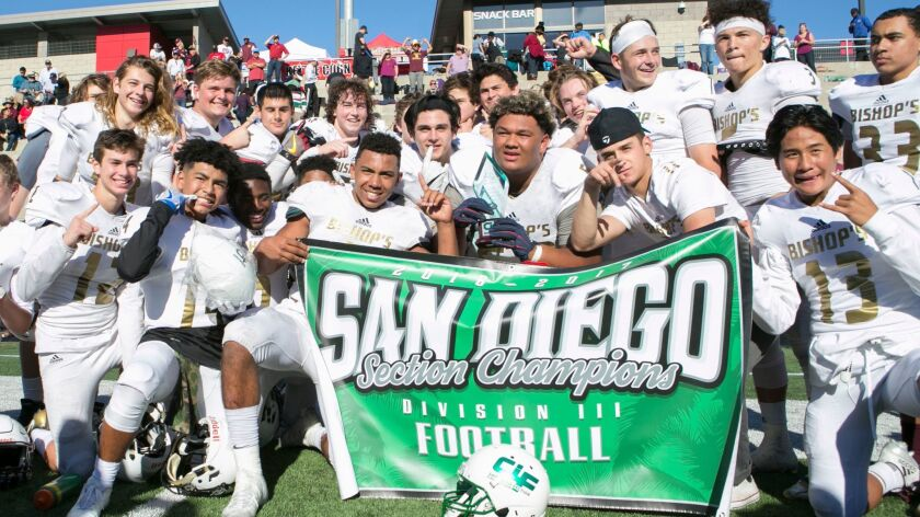 Bishop's was one of three Coastal League teams to win a San Diego Section football title this season.