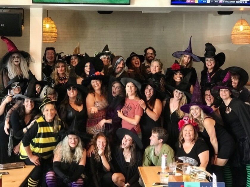 Participants at the 2019 'Those Witches Be Crazy' pub crawl.
