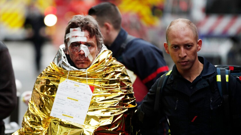 Huge explosion in Paris, France - 12 Jan 2019