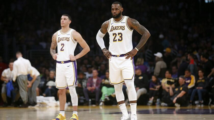 LeBron James was responsible for five of the Lakers' 11 misses from the line Sunday against Orlando. Lonzo Ball, a 57% free-throw shooter, fortunately didn't attempt any.
