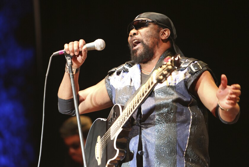 Toots Hibbert performs with the Maytals in Grass Valley, Calif., in July 2019