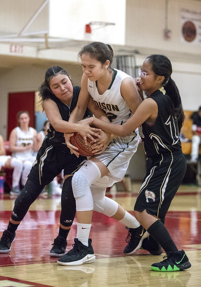 Photo Gallery: Edison vs. Bellflower in girls' basketball