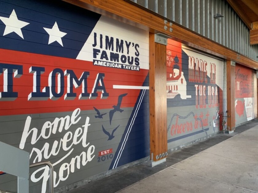 Jimmy's Famous American Tavern commissioned a new mural to celebrate its 10th anniversary and the Fourth of July.