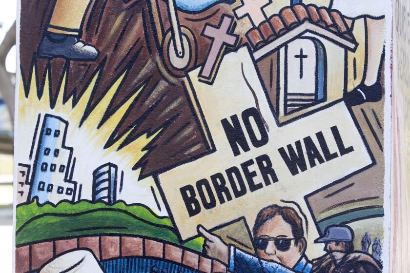 Polémica en San Diego por un nuevo mural en Chicano Park que critica el muro fronterizo