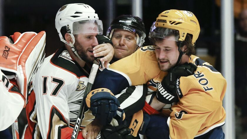 Ryan Kesler, Filip Forsberg, Jonny Murray