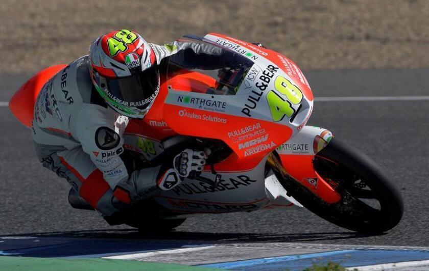 Lorenzo Dalla Porta, piloto italiano de Moto3. EFE/Archivo