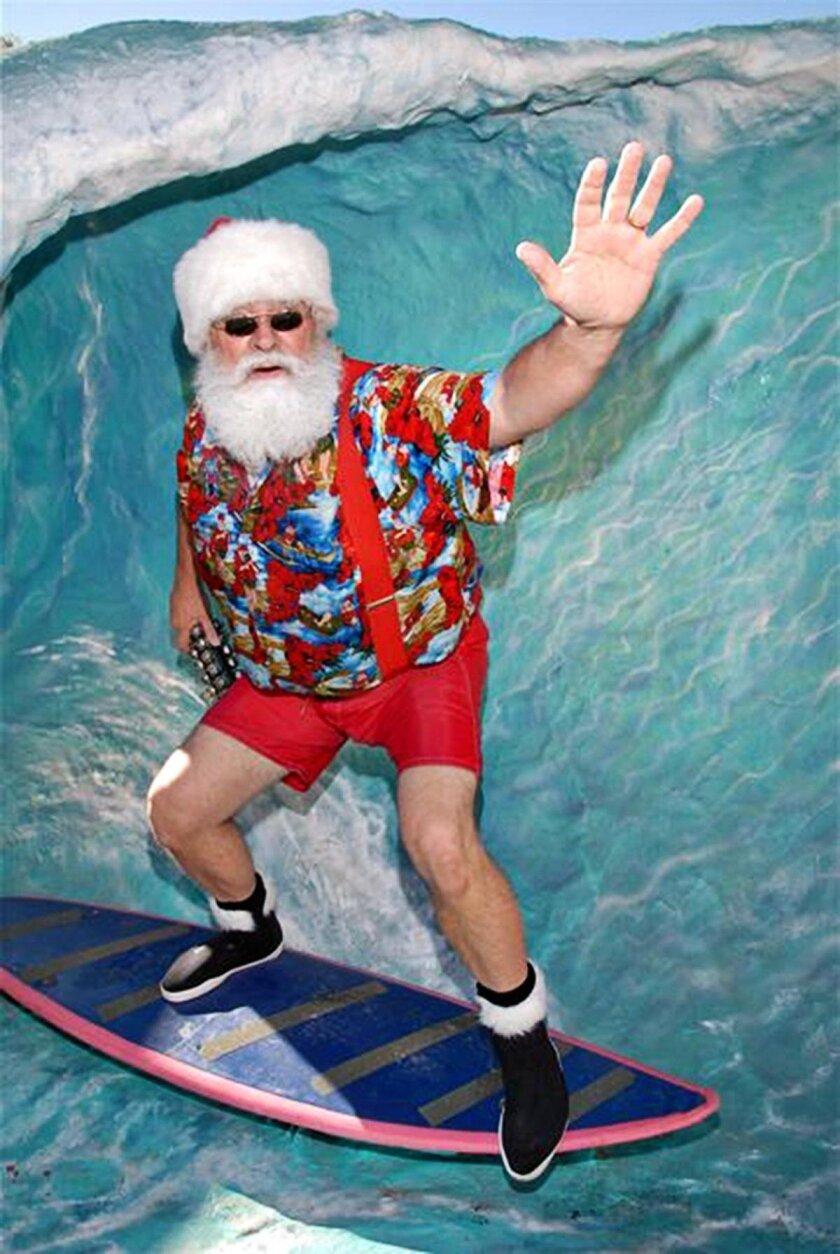 Surfing Santa at Seaport Village