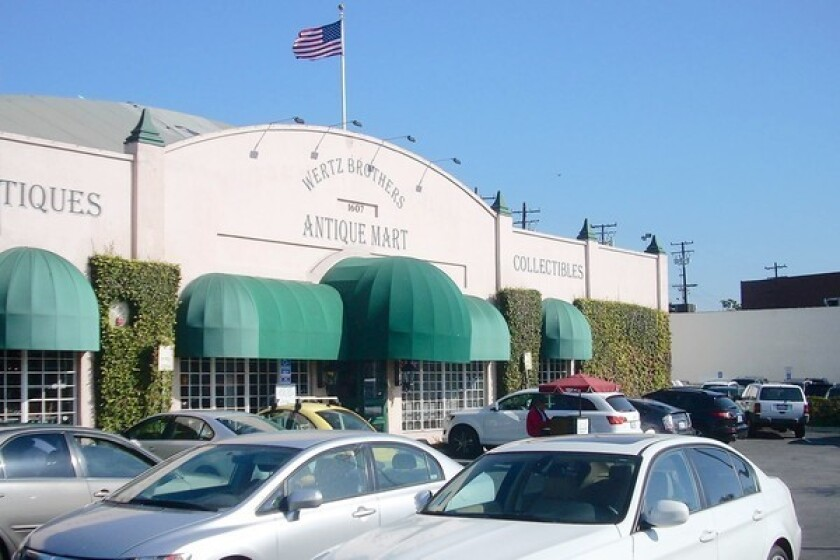 The site of the Wertz Bros. Antique Mart in Santa Monica at 1613 Santa Monica Blvd. has been sold to Century West Partners for more than $11 million. It will be incorporated into a proposed apartment and retail complex.