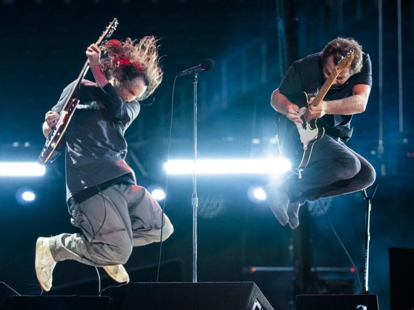 Eddie Vedder performs at the Vax Live concert at SoFi Stadium