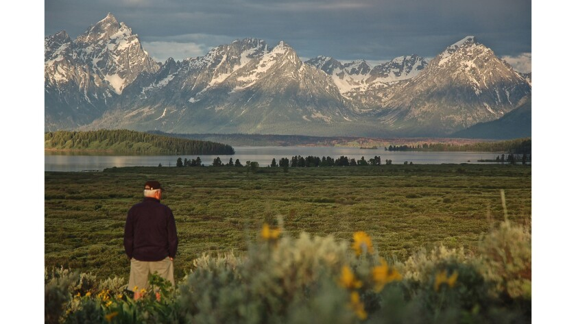 Grand Teton National Park's Jackson Lake Lodge is a fairly drab, mid-century modern box. But step outside around sunrise and this is the view dead ahead.