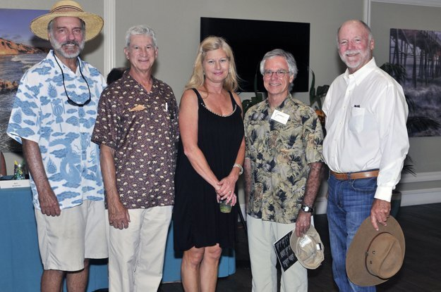 Del Mar City Council member Dwight Worden , San Dieguito River Valley Conservancy President Peter Shapiro, Executive Director Trish Boaz, board member and sponsor Chris Khoury, board member Ned Reynolds