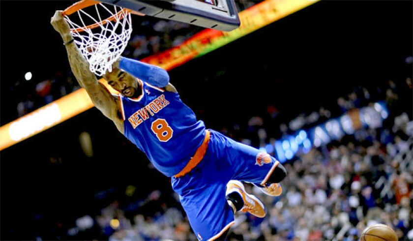 New York Knicks' J.R. Smith is NBA's top sixth man