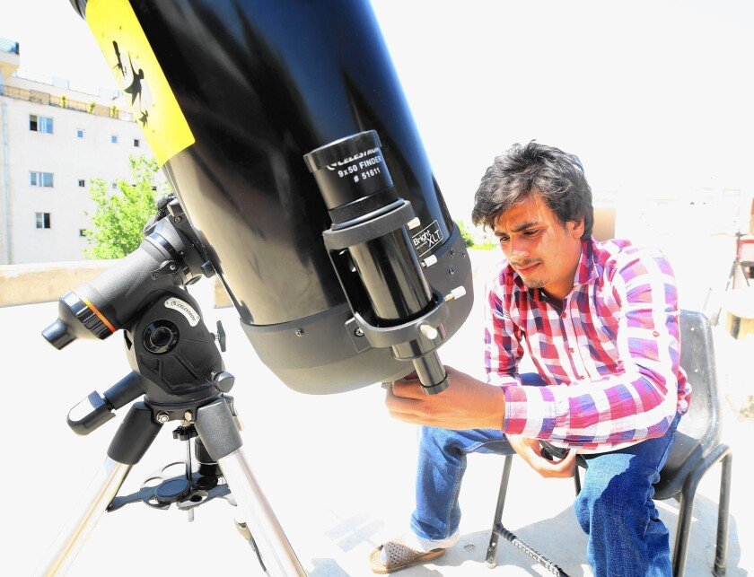 Afghan amateur astronomer