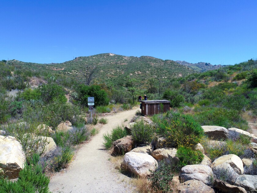 Precautions should be taken on hot days when out hiking trails like this one at Blue Sky Ecological Reserve in Poway .