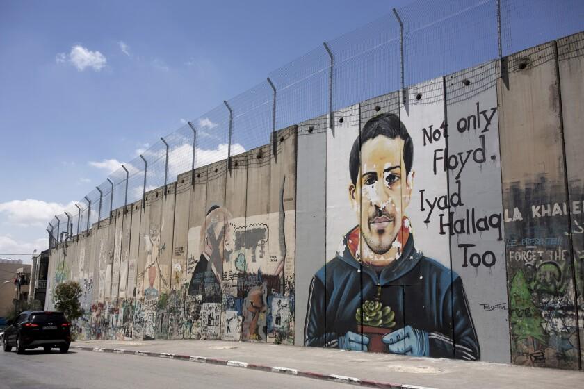 Mural depicting shooting victim Iyad Halak