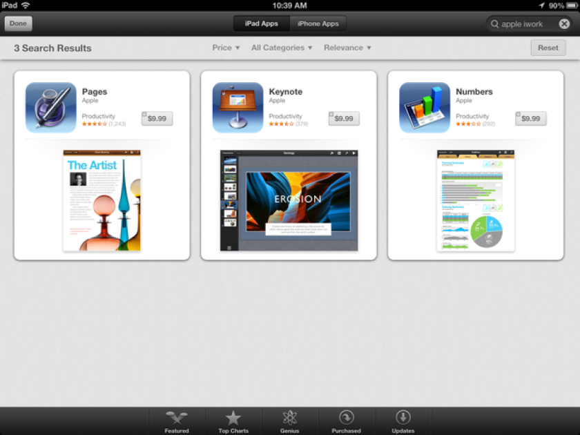 Apple's iWork apps will be available free later this month.