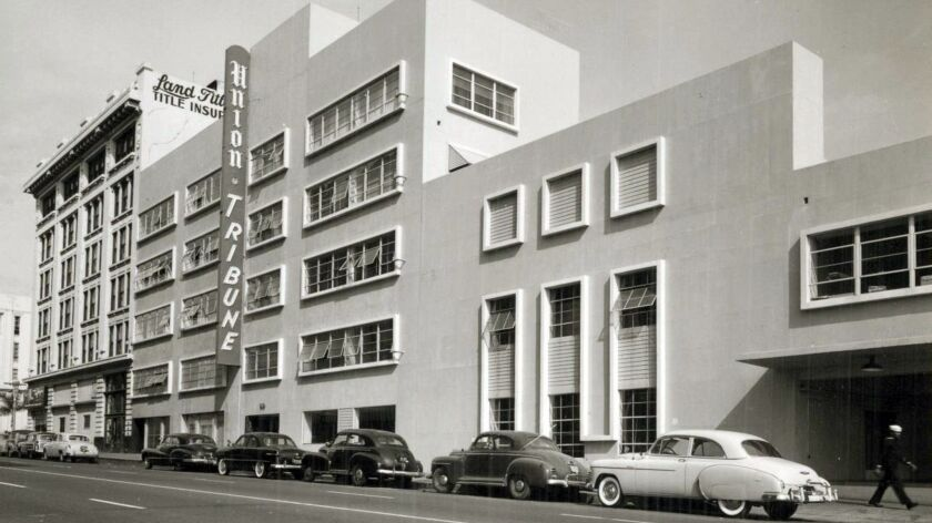 Land Title Insurance building and Union-Tribune building in downtown San Diego. User Upload Caption