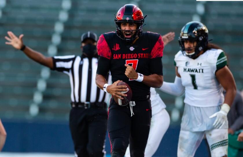 San Diego State quarterback Lucas Johnson makes his second start when SDSU plays Utah.