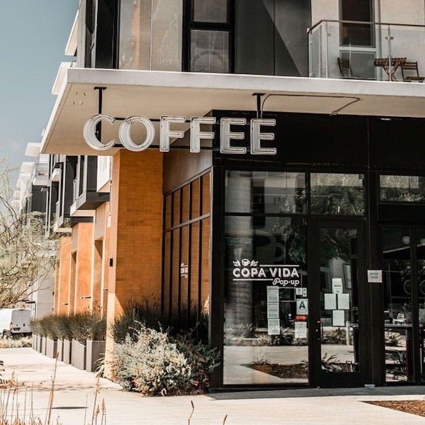 The Copa Vida coffee shop location in the North City development in San Marcos has reopened after a long pandemic break.