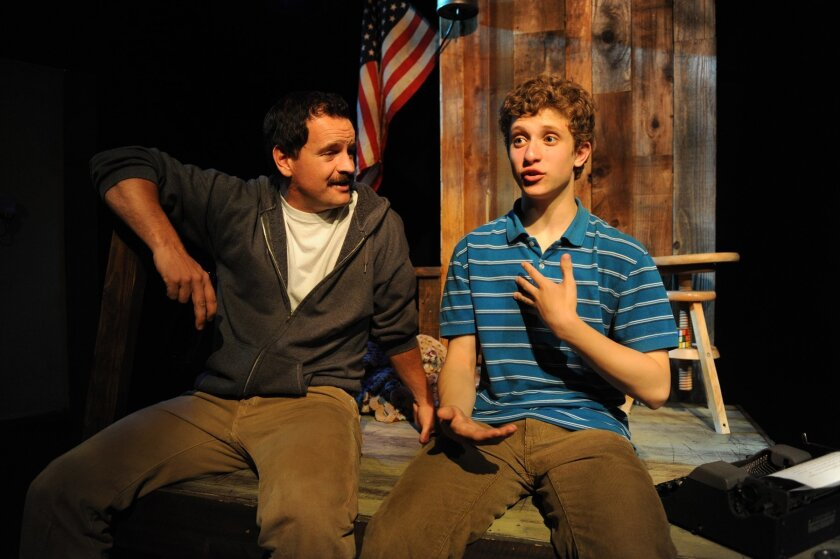 "Tyler Herdklotz (left) and Dylan Hoffinger in Diversionary Theatre's ""Anita Bryant Died for Your Sins."""
