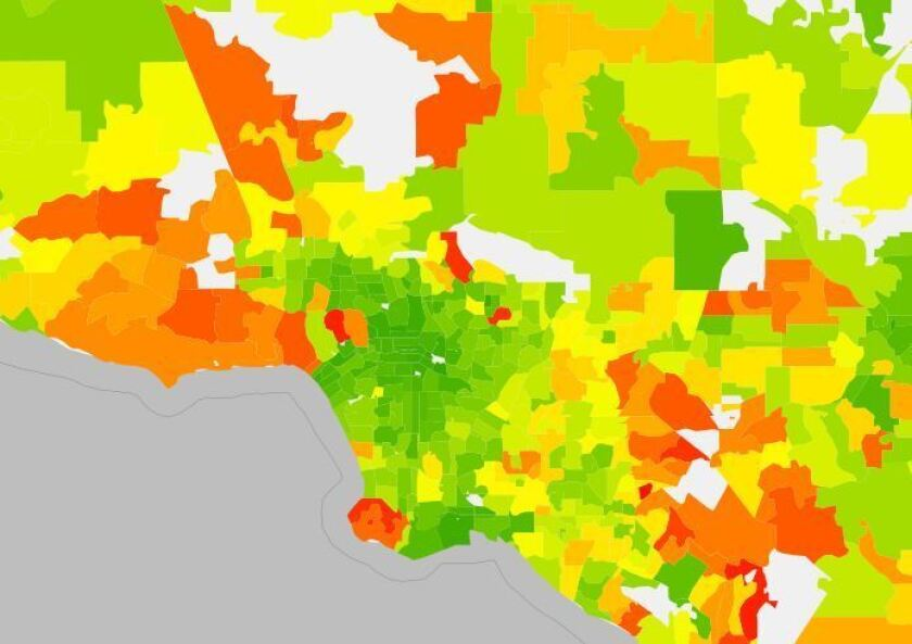 Carbon footprints in Los Angeles