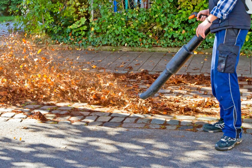 Upwards of 170 American cities in 31 states (as well as five cities in three Canadian provinces) have some kind of leaf blower restrictions already in place. (Dreamstime/TNS) ** OUTS - ELSENT, FPG, TCN - OUTS **