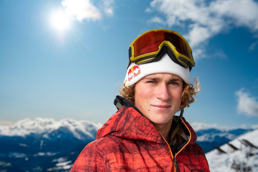 La Jollan and U.S. Snowboard Team member Judd Henkes (pictured in Austria in 2019)
