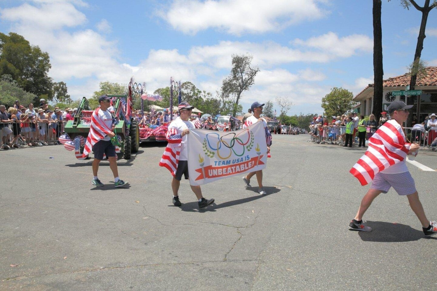 Olympic-themed floats were a part of the RSF July 4th parade