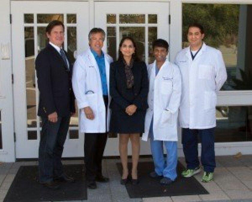 The doctors at MedCare Specialty Clinics (L to R): Dr. Carl Noback, Dr. Bob Uslander, Dr. Monika Gupta, Dr. Renjit Sundharadas and Dr. Neil Halim.  / Courtesy of MedCare Specialty Clinics