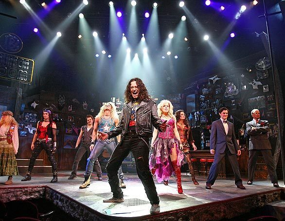 """Constantine Maroulis finished sixth on """"American Idol"""" in 2005. He's in the final five for leading actor in a musical (""""Rock of Ages""""). (OK, so it's final seven -- the three actors who play the title role in """"Billy Elliot, The Musical"""" are nominated together.)"""