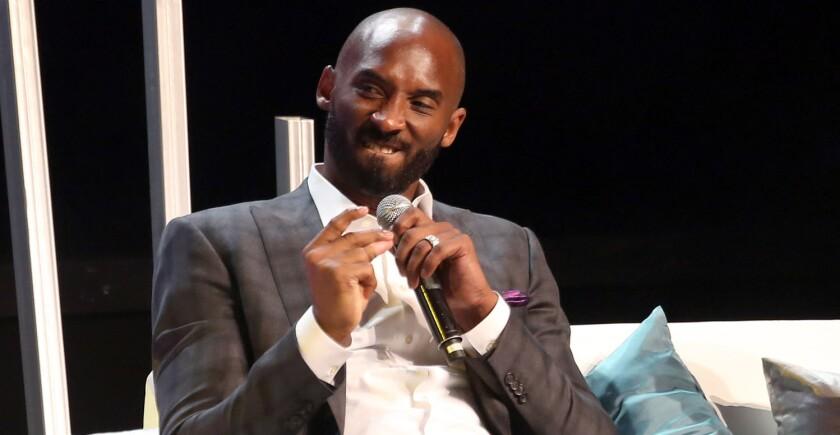 Kobe Bryant, durante la charla que ofreció en Ciudad de México.