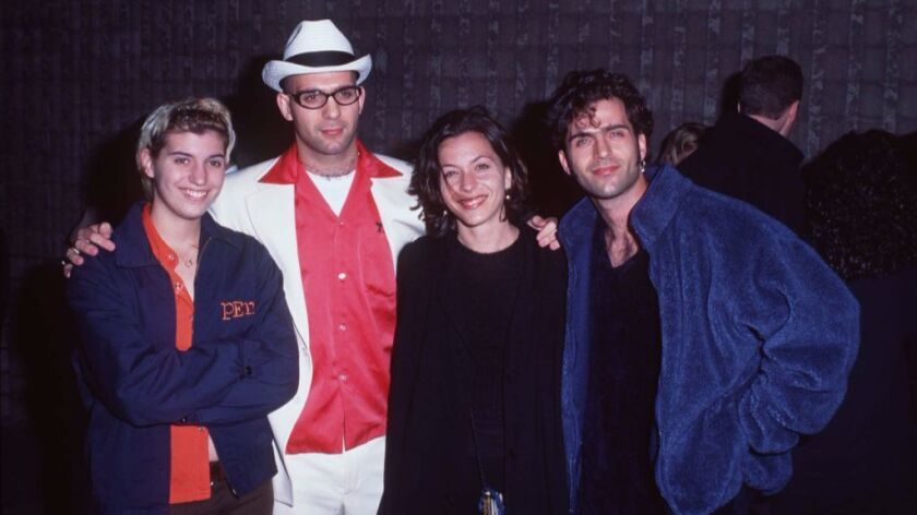 The Zappa siblings are shown in happier times in 1996. From left, Diva Zappa, Ahmet Zappa, Moon Zapp